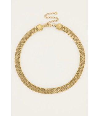My Jewellery Ketting schakels mesh MJ050521200 Goud