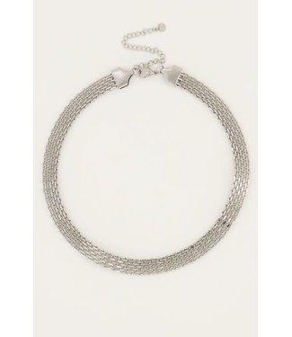 My Jewellery Ketting schakels mesh MJ050521500 Zilver