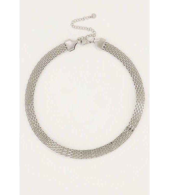 Ketting schakels mesh MJ050521500 Zilver