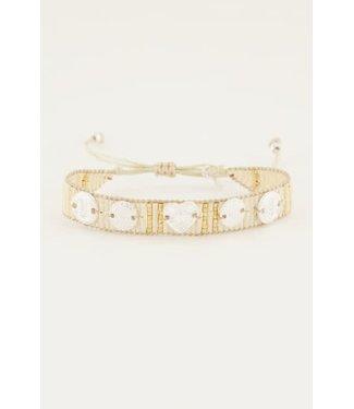 My Jewellery kralenarmband met zilverkleuri MJ045870900 Wit
