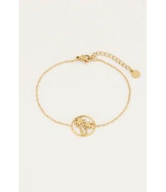 My Jewellery Armbandje twee palmbomen MJ050291200 Goud