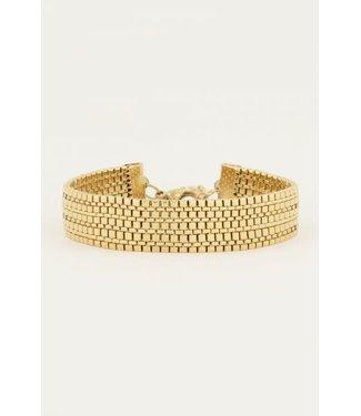 My Jewellery Armband schakels mesh MJ050491200 Goud