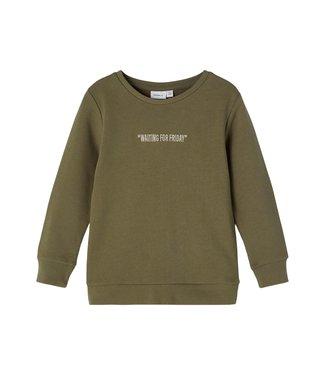 name it NMMKALLE Sweater 13194509 Stone Gray