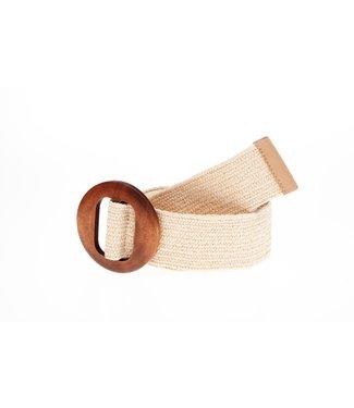 Round belt 50555 - ecru
