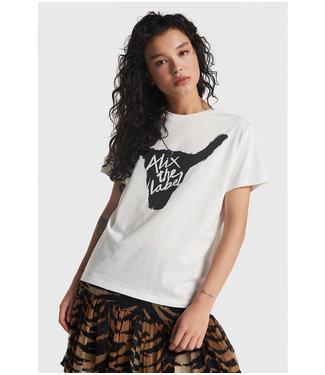 ALIX knitted Alix bull t-shirt soft white