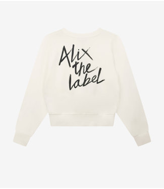 ALIX knitted sweater soft white