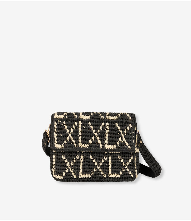 paper crochet small LX bag black