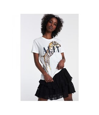 ALIX knitted tiger t-shirt soft white