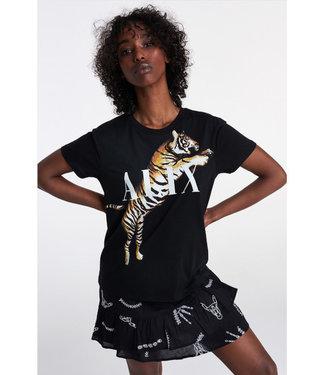 ALIX knitted tiger t-shirt black