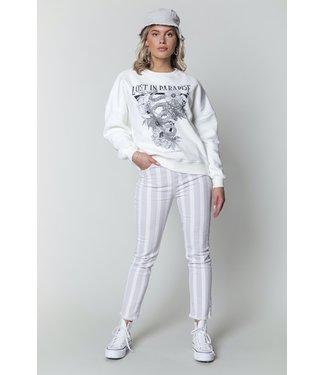 Colourful Rebel 11215 - Sky Stripe Jeans - Lilac White