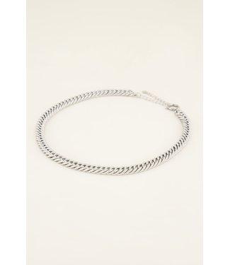 My Jewellery Schakelketting met ronde sluiting MJ03995 - zilver