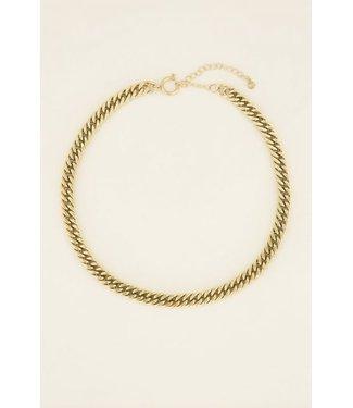 My Jewellery Schakelketting met ronde sluiting MJ03995 - goud