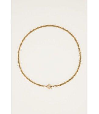 My Jewellery Schakelketting met slotje MJ05358 goud