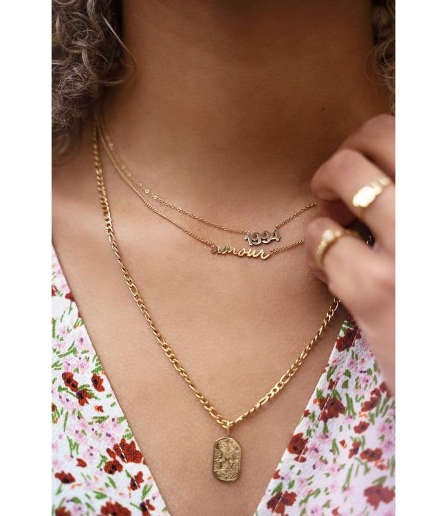 Ketting amour MJ03626 goud