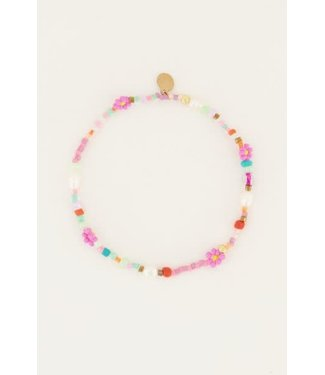 My Jewellery Enkelbandje kralen en bloemen MJ05354