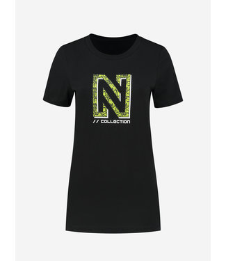 NIKKIE Snakey N Logo T-Shirt 6144 black