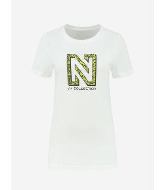 NIKKIE Snakey N Logo T-Shirt 6144 star white