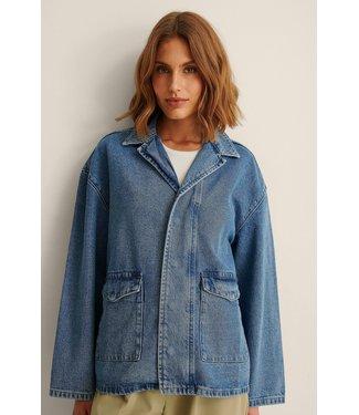 NA-KD Patch pocket denim jacket 007242