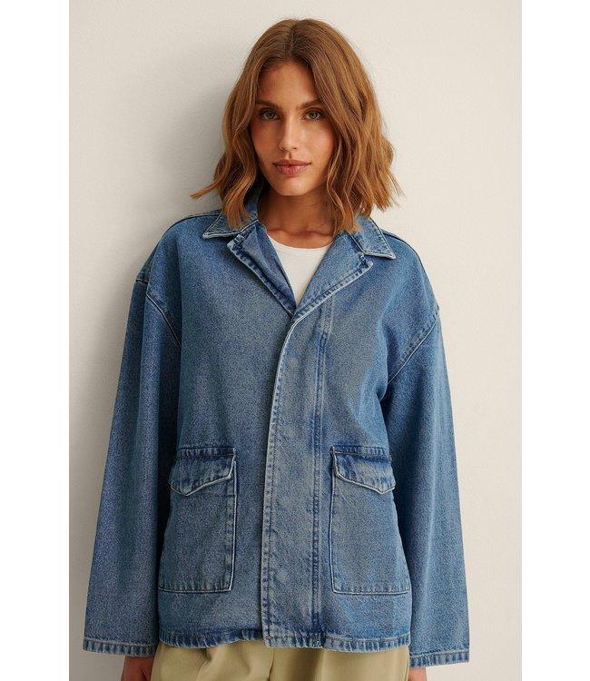 Patch pocket denim jacket 007242