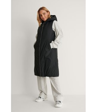 NA-KD Oversized hooded vest 007251 - black