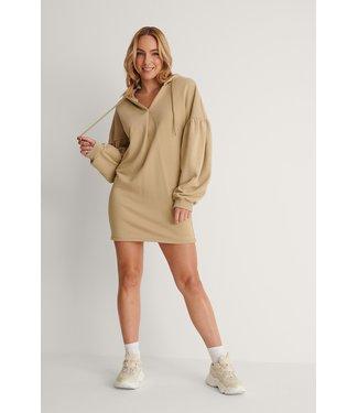 NA-KD Hoodie dress 004238 - khaki