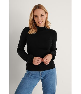 NA-KD High neck knitted polo 004251 - black