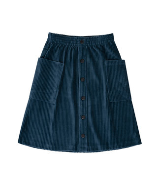 CarlijnQ Corduroy Teal - midi skirt COT041