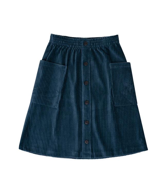 Corduroy Teal - midi skirt COT041
