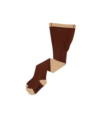 CarlijnQ Tights - diagonal brown/sand TIG212