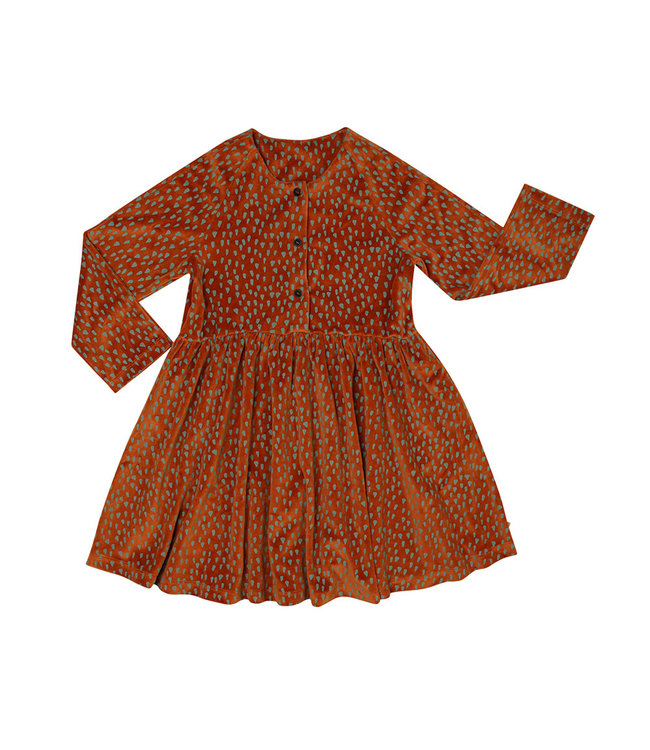Mountain Air Sparkles - velours dress wt 3 buttons  MAS118