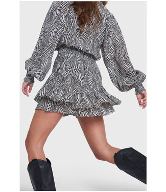 ALIX Woven dots animal skirt