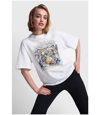 ALIX Oversized tiger T-shirt - soft white