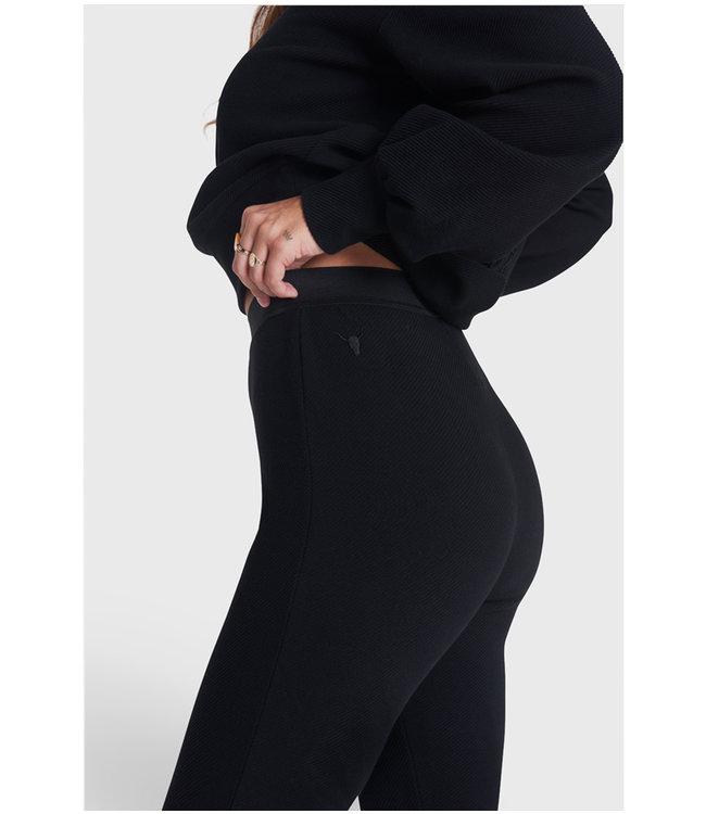 Knitted legging - black