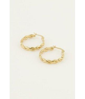 My Jewellery Oorringen rond touwpatroon MJ04358 Goud