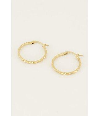 My Jewellery Oorringen rond smal MJ04362 Goud