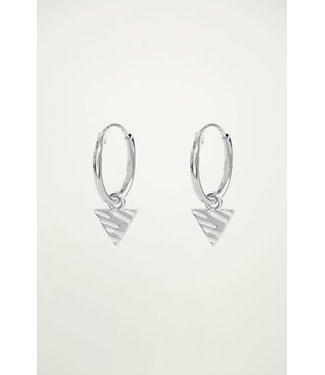 My Jewellery Oorringen bedel driehoek  MJ02324 Zilver