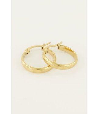 My Jewellery Oorbellen rond patroon MJ04360 Goud