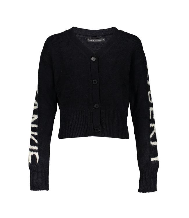 Adele Knit Cardigan 03 BLACK