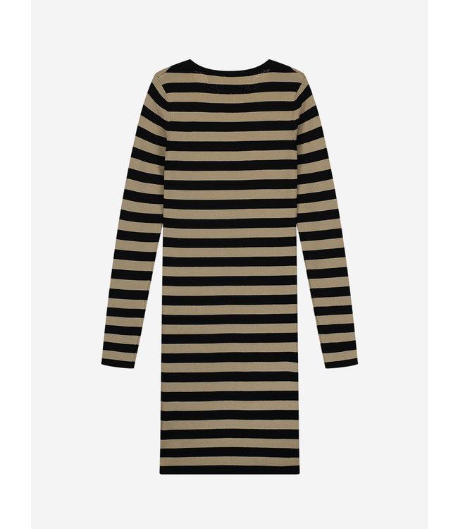 Jolie Dress G 7-023 Black/Beige Grey Stripe