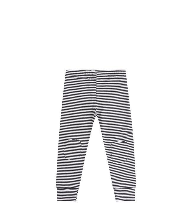 Legging   b/w stripes