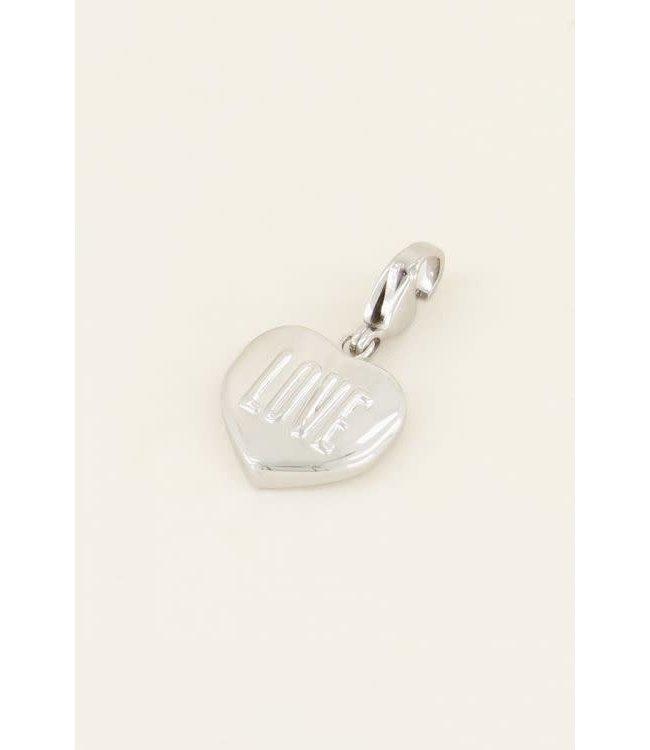 Bedel hart love MJ03979 - zilver