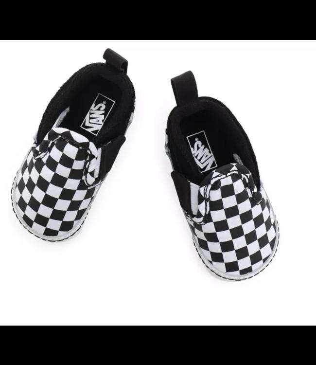 IN Slip-On V Crib (Checker) Black/TrueWhite VN0A2XSLFB71