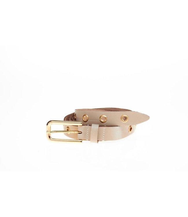 20742 eyeleys belt ecru/gold