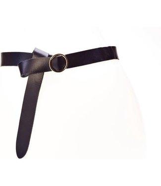 Plain belt 30119 - black