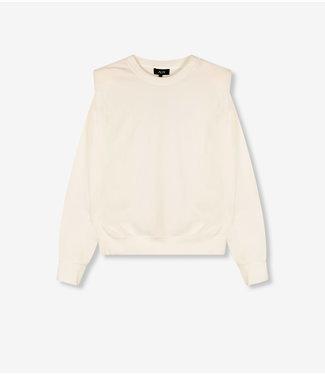 ALIX Rib velvet sweater - soft white