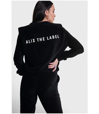 ALIX Rib velvet sweater - black