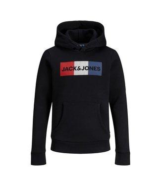 Jack & Jones JJECORP SWEAT HOOD 12152841 Black/PLAY