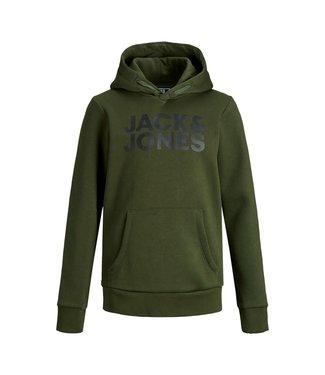 Jack & Jones JJECORP LOGO SWEAT HOOD NOOS JNR 12152841 Forest Night