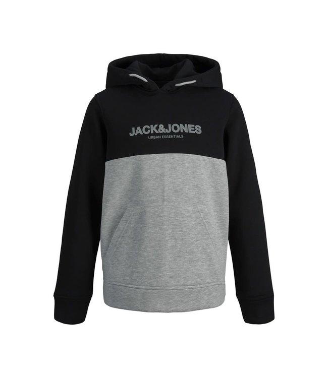 JJEURBAN BLOCKING SWEAT HOOD NOOS JNR 12190514 Black