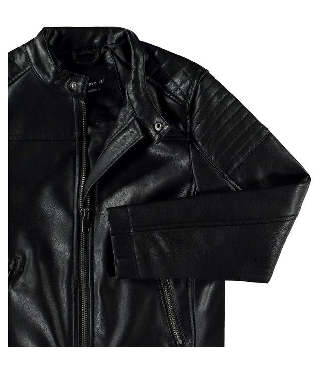 NKMMALDER PU JACKET 13173132 // black